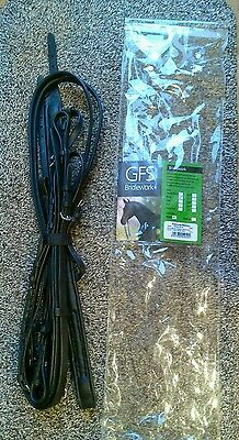 GFS Black Leather Padded Flash Bridle Humane Consort With Reins New. Pony Size