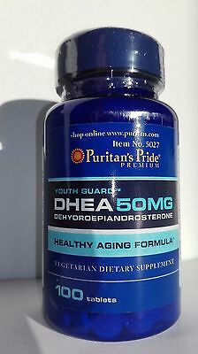 PURITANS PRIDE - DHEA 50 Mrg - 100 TABLETS