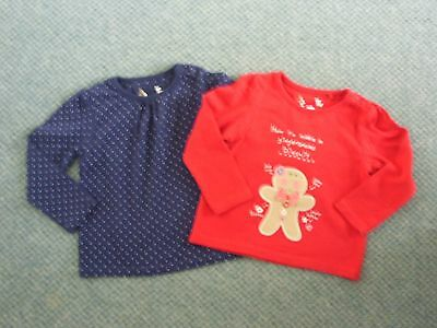 Two baby girl's TU cotton tops 6-9 months