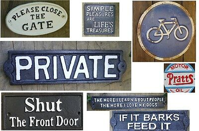 Vintage Style Garden Plaques Signs Cast Iron Garden Patio Wall Ornament Age Look