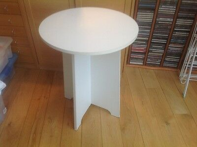 Small Round Occasional Table With Glass Top