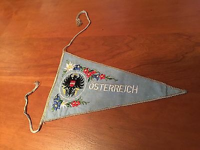 Vintage Pennant Osterreich, Austria. Double-sided