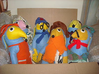 A Set of 6 Vintage Handmade Wombles - c/w W Rubbish bags