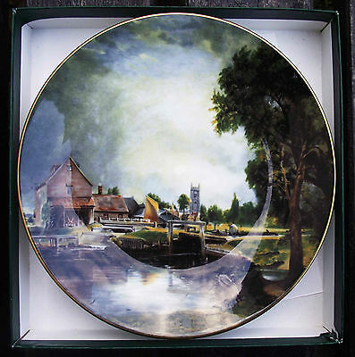 Crown Staffordshire, John Constable Collection, Dedham Lock and Mill