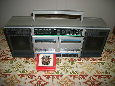 Vintage 1970's J.C.Penny AM/FM/ Portable Boombox 8 Track/Cassette Stereo Player