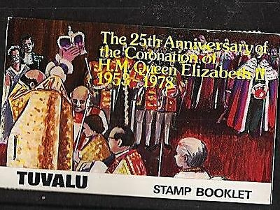 Tuvalu 1978 25th. ann. coronation booklet intact