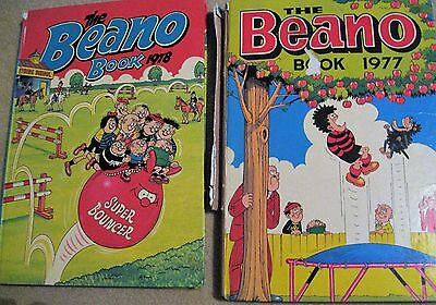 2 Vintage Beano Book Annual 1977 1978 Birthday Gift