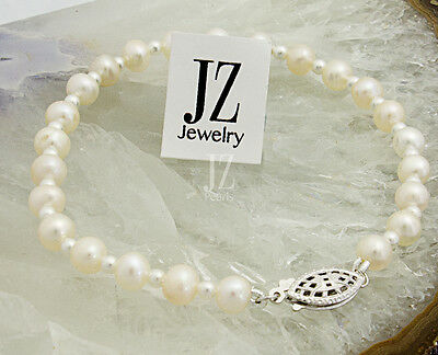 Freshwater Cultured Pearl Bracelet with Japanese pearl beads in & S/Silver Clasp