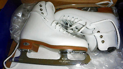 NEW Riedel 29 TS Junior Girl Youth Figure Skates Size 13 1/2 M Quest Onyx Blades