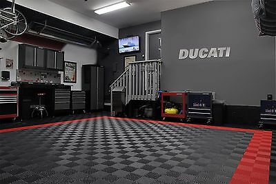 Ducati Garage Sign 4 Feet Wide Brushed Silver