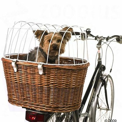 Dog Cat Bicycle Basket Luggagge Rear Rack Pet Security Bike Wicker High Quality