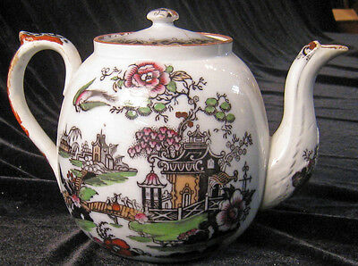 Antique Early New Hall Teapot, Ca 1780