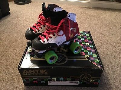 Antik AR1 Red White And Black Roller Derby Skates - UK5