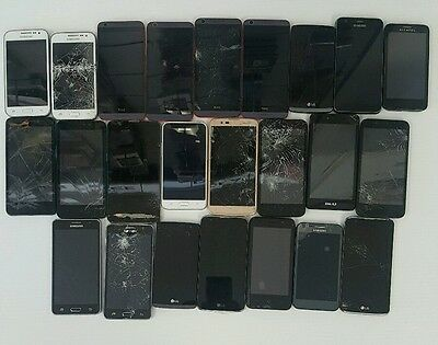 lot of 24 phones( samsung,HTC,ZTE,LG,Alcatel) metro pcs, Verizon, tmobile