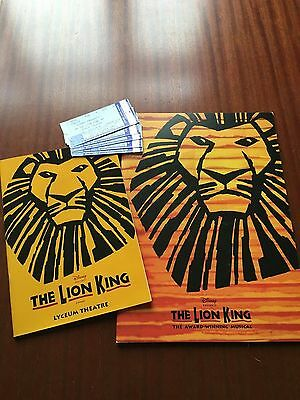The Lion King programme and tickets