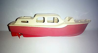Tri-ang scalex boat vintage 1960's red & white