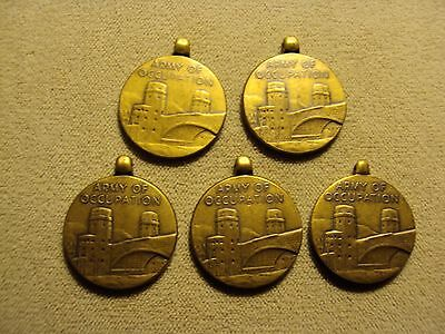 5 Pc Lot Wwii Us Army Of Occupation Medals