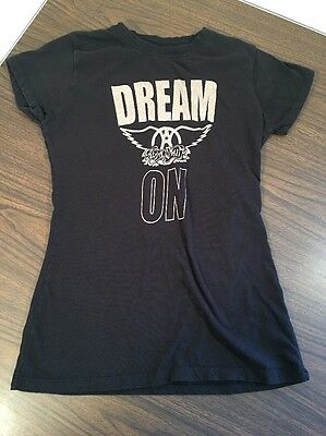 Women's Aerosmith Dream On Tee Shirt Fitted Size Large