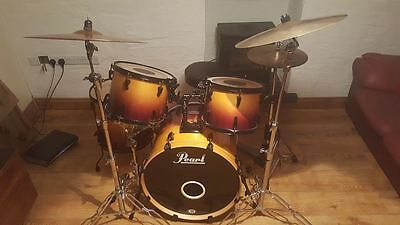 PEARL ELX DRUM KIT with quality cymbals and hardware