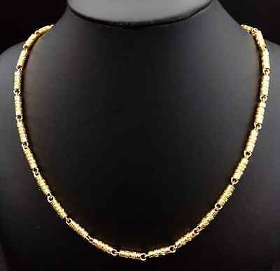 100% Solid 14K Yellow Gold Men's Necklace/Chain Jewelry 63 Grams