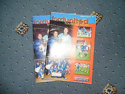 A collection of 2 Ford United  Football Programmes.