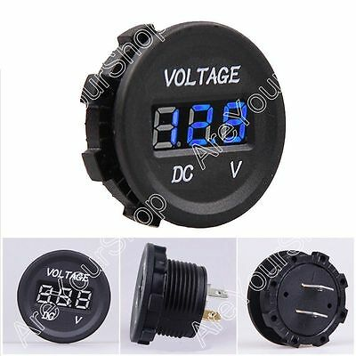 12V-24V Car Motorcycle LED Digitalanzeige Voltmeter Socket Gauge Meter Blue