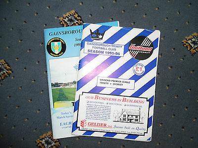 A collection of 2 Gainsborough Trinity Football Programmes.