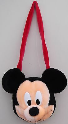 Disney's MICKEY MOUSE Zipped Bag With Strap Soft Plush Toy