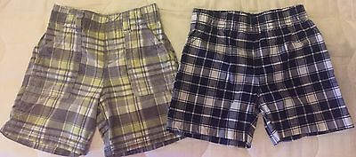 Carter's Baby Toddler Boy Set of 2 Plaid Shorts Size 24 months
