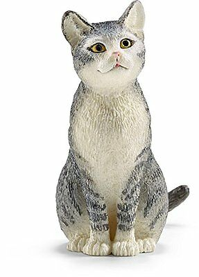 Schleich Grey/Tabby and White Cat figurine