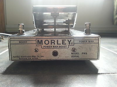 Rare Vintage Morley PWB Power Wah Boost Guitar Effects Pedal