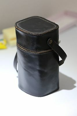 Vintage Double Hip Flask Bottle - Leather Bound Glass - Breweriana