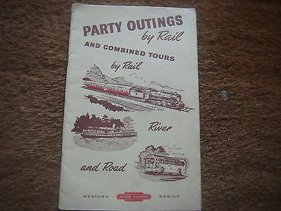 Vintage BR Bristish Rail Western Party Outing and Combined Tour Guide Book