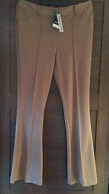 Kick Flare Trousers Size 14 Brown Bnwt