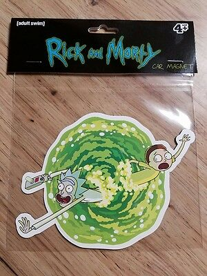Rick And Morty Warp Into Dota Fridge Or Car Magnet Adult Swim Funny Cartoon