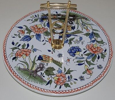 ### Lovely Colourful Hand Painted French Cheese Serving Plate ###