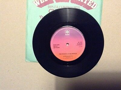 "West Ham United I'm Forever Blowing Bubbles Vinyl 7"" Record. Vintage 1975"