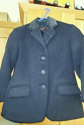 Foxley Childs Hunt Jacket 24 Inch Chest Ex Quality Cond Riding 100% Wool Navy
