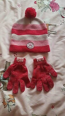 converse hat and gloves set