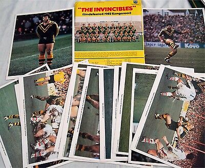 Rugby League The Invincibles Undefeated 1982 Kangaroos Photo  Ultra-Rare