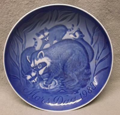 1983 Mother's Day Collector Plate Bing & Grondahl B&G Denmark, Raccoons