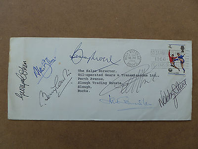 England 1966 World Cup Envelope signed by 7 of the 11 inclu Bobby Moore, Ball
