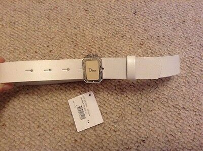 Girls White Christian Dior Belt age 6-8 Years Brand New