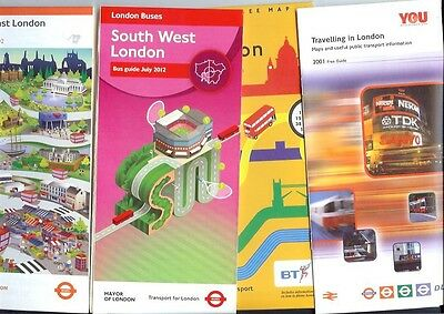 London Buses 4 bus maps South East 2002 SW 2012 Travelling in 1994 2001 Tube