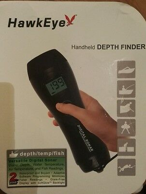 Hawkeye H22PX Handheld Depth Finder System with Air/Water Temp. and Fish Finder