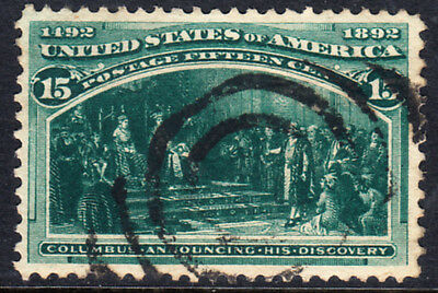 ⦿ US Stamps Collection Scott#238 15c Columbian Used CV$82.50