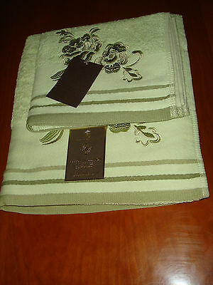 Luxury Hand Towel And Bath Sheet, 100% Egyptian Cotton Towels Green