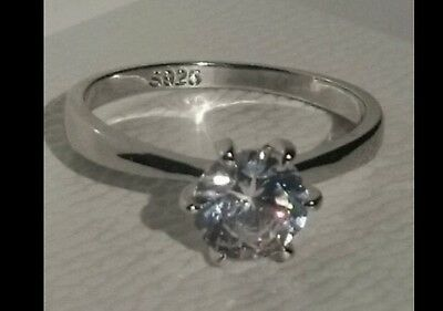 Engagement, eternity ring size 9/60/S ina PANDORA BOX White Gold plated On S925