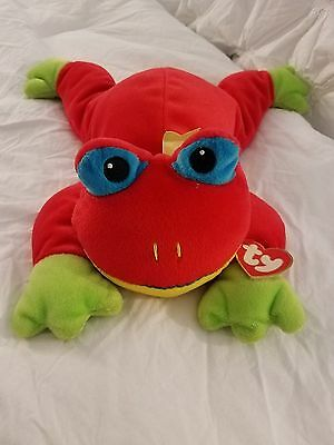 TY 1998 The Pillow Pals Collection Ribbit Frog