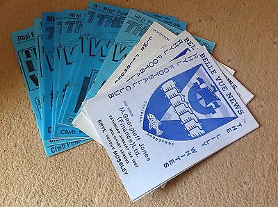 A collection of 11 Rhyl FC Football Programmes.